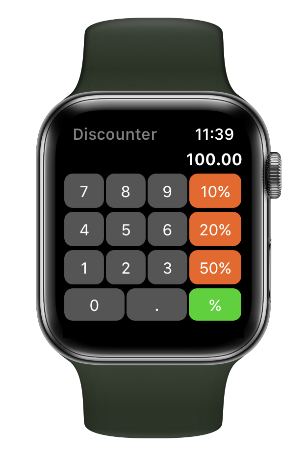 Discounter - Calculate Discounts for Apple Watch