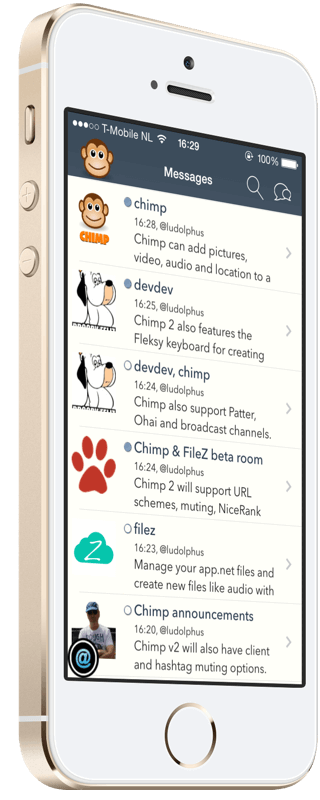 Chimp - iOS app.net client supporting rich media posts, messages, patter, broadcast and ohai